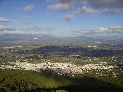 pueblos con encanto Alhaurin el grande vista aerea