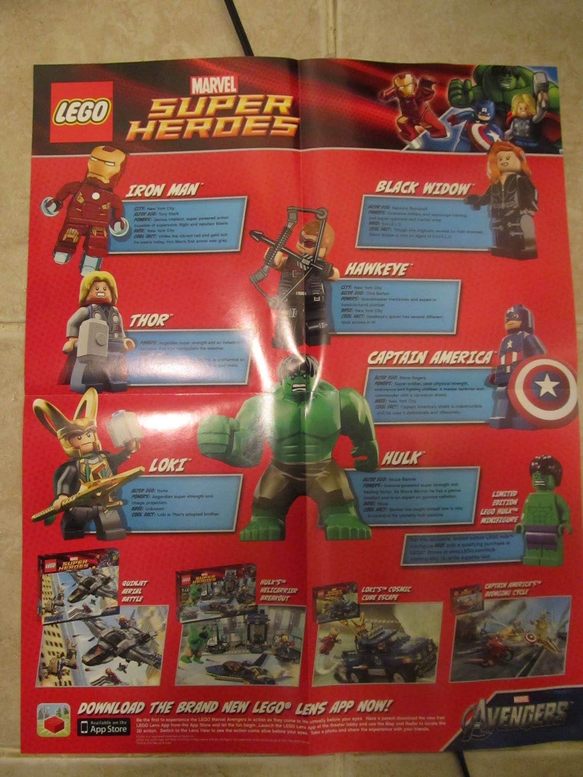 Lego avengers mini movie poster marvel super heroes thor hulk iron man