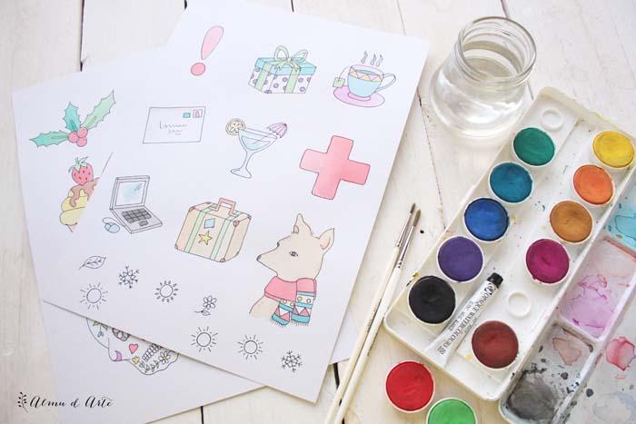 ilustraciones Almudena Ruiz para la Agenda para colorear
