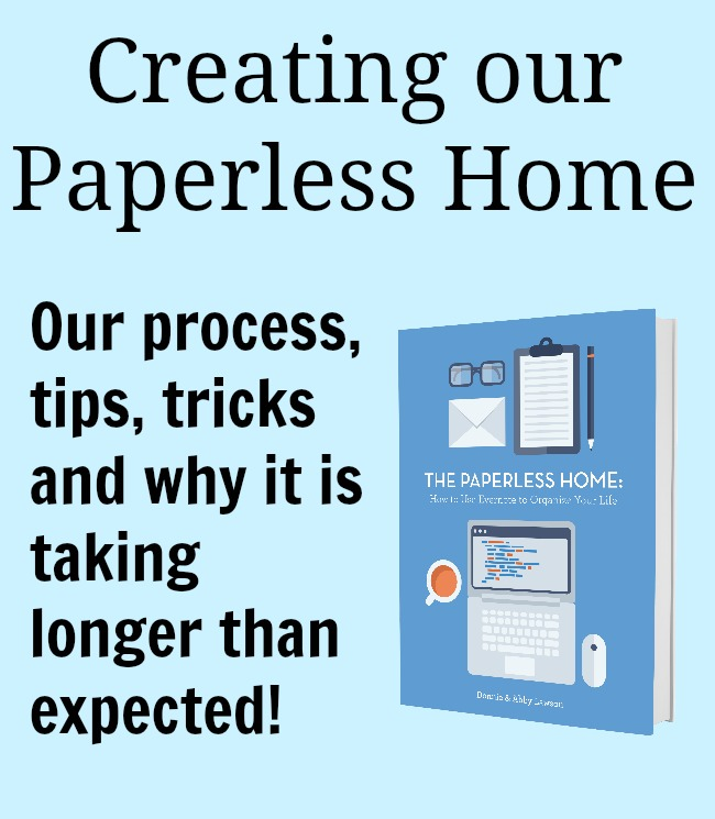 Creating our paperless home. No fancy scanner or equipment necessary.
