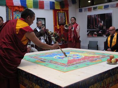 Medizin Buddha, Sandmandala, Kunga Tenzin, Tsering Tashi, Bodensee Sandmandala, Kreuzlingen,