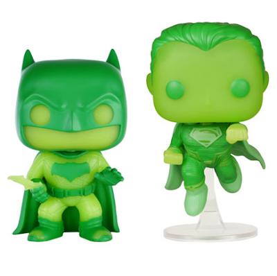 Walmart Exclusive Kryptonite Green Glow in the Dark Batman v Superman: Dawn of Justice Pop! Heroes Box Set by Funko