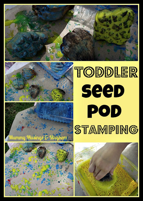 Toddler nature painting