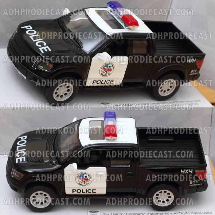 Miniatur Mobil Ford F-150 SVT Raptor Police