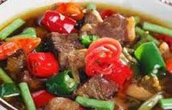 resep praktis dan mudah membuat (memasak) asem – asem lidah sapi spesial enak, lezat
