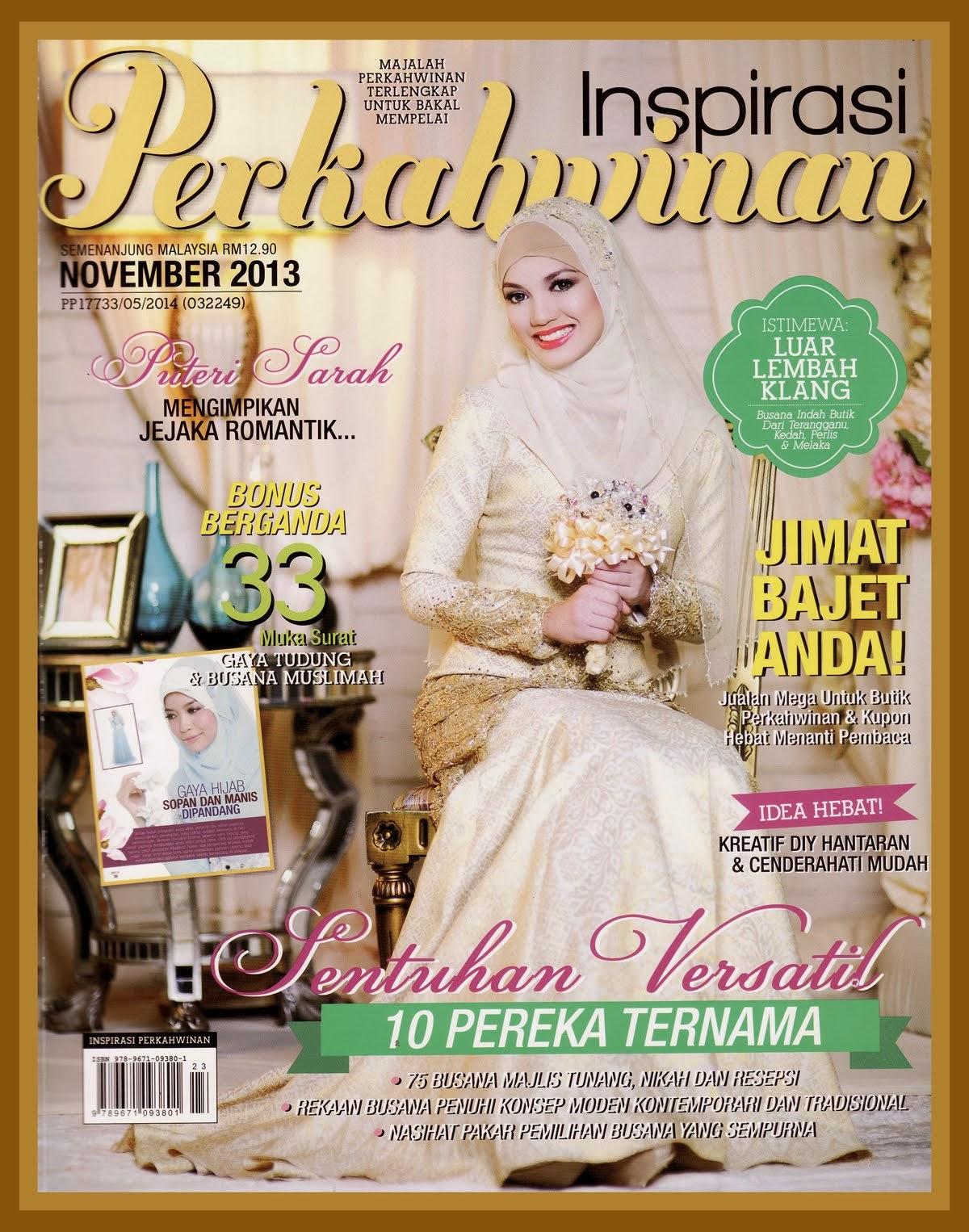 Cover Majalah Inspirasi Perkahwinan - November 2013