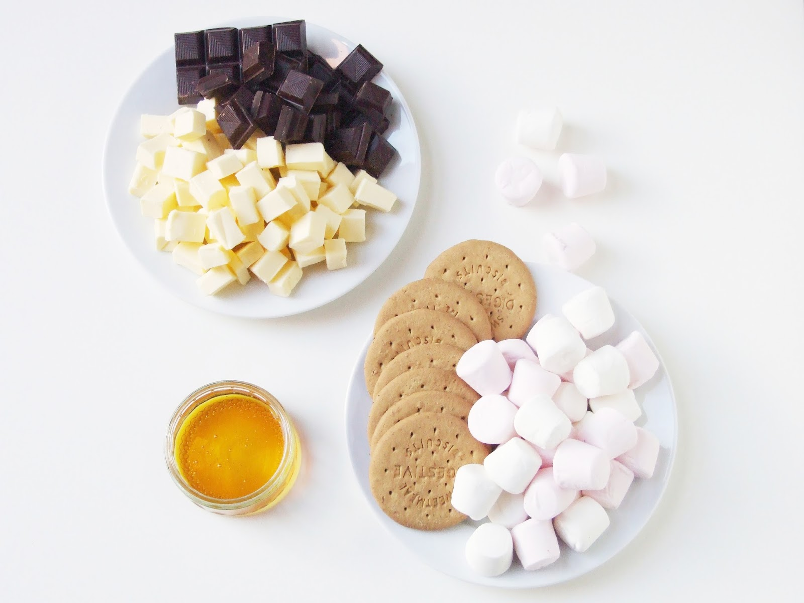 Ingredients for chunky rocky road