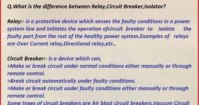 Electrical Engineering World What is the difference between RELAY