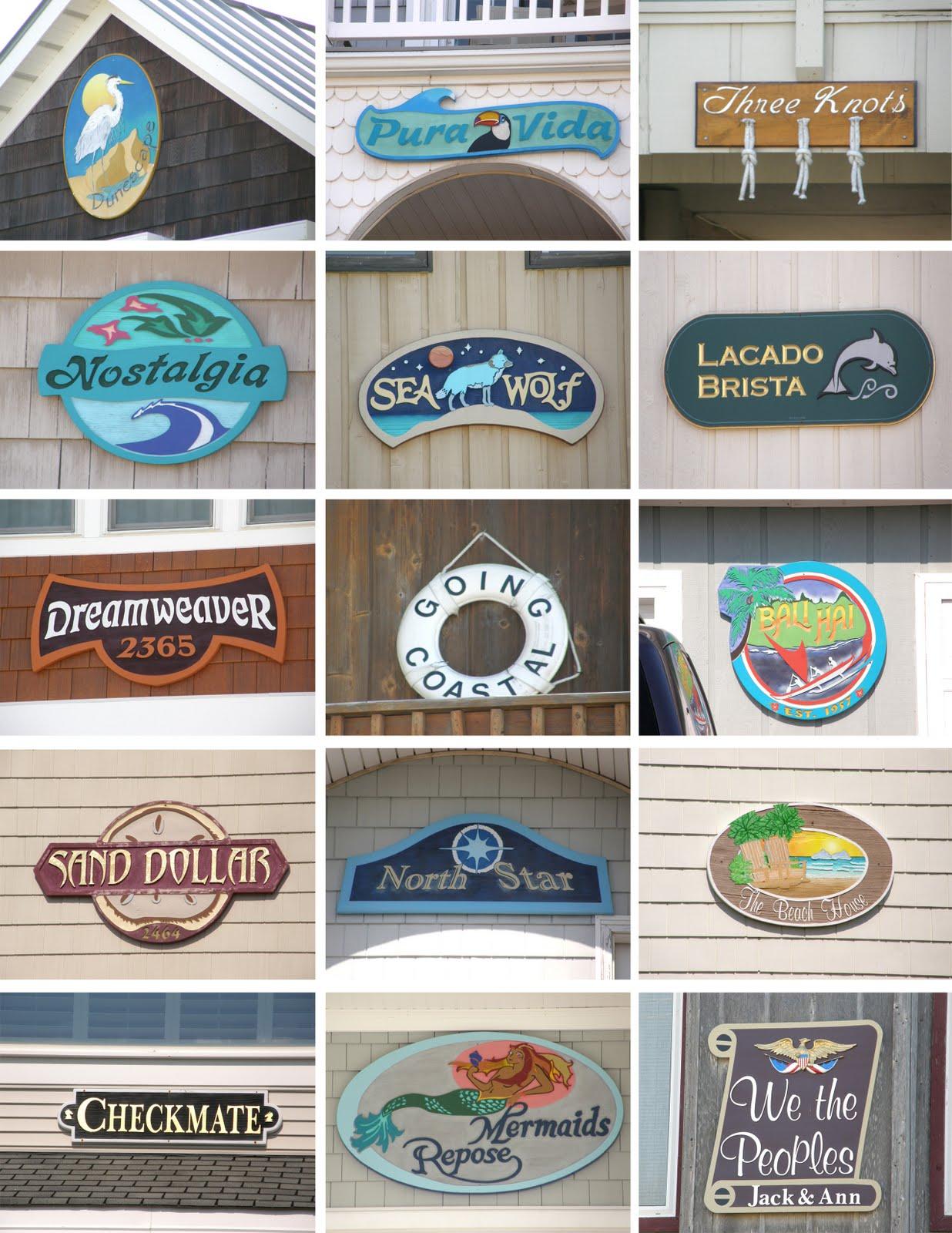 Creative beach house names house decor for House of names
