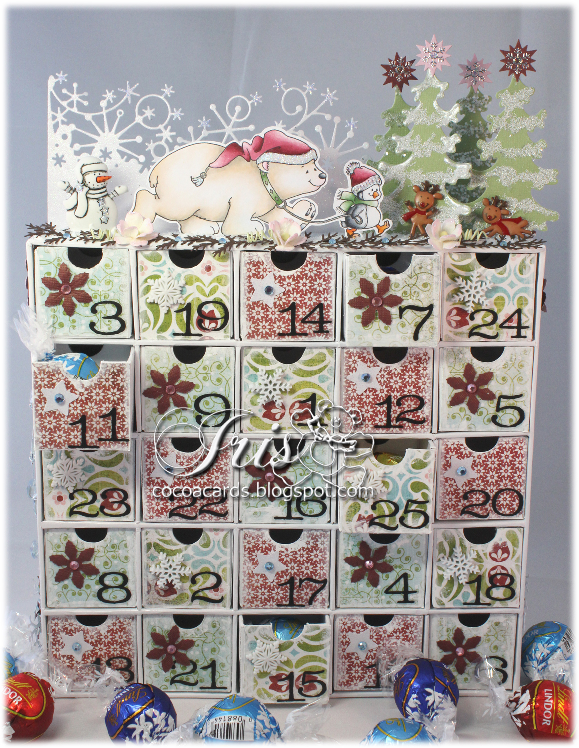 Calendar For Sale : Paper crafting in cocoa decorated advent calendar and a