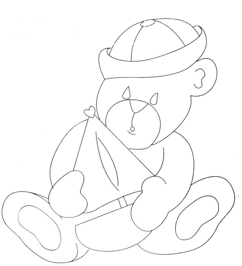 imagens para colorir ursinho marinheiro - Mini Kit Colorir Ursinho Marinheiro Le Charm Elo7