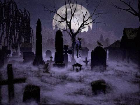 Carona no cemitério