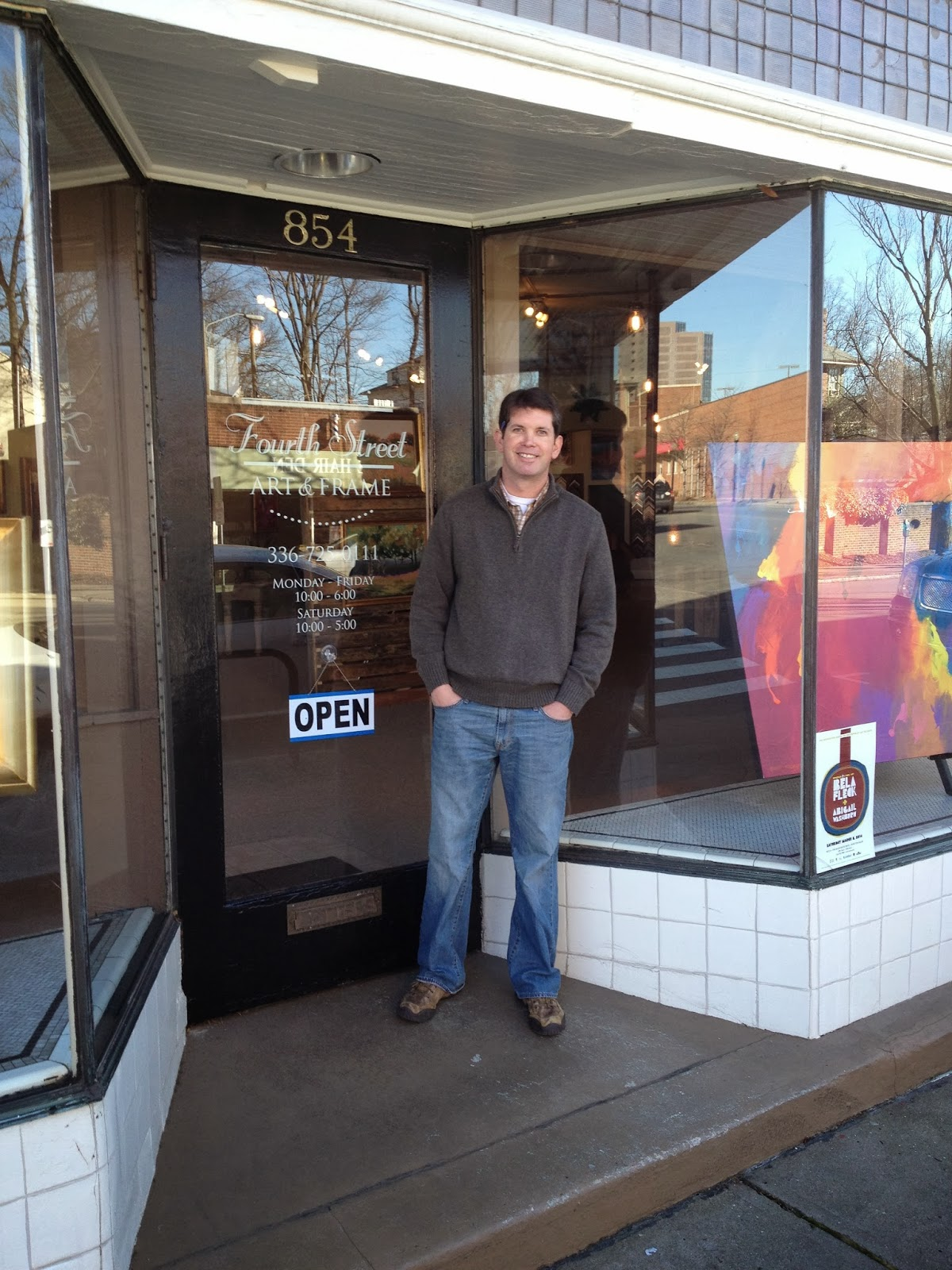 Downtown Winston-Salem Blog: Fourth Street Art & Frame at Fourth and ...