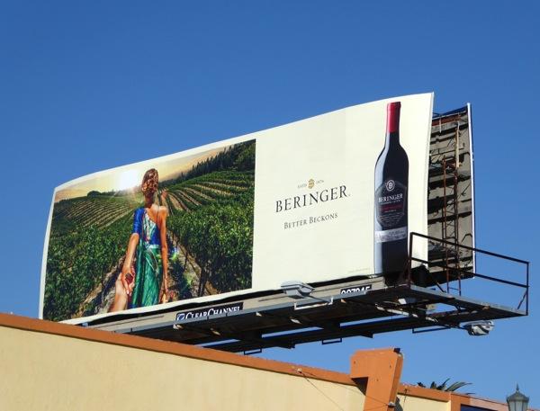 Beringer wine Better beckons billboard