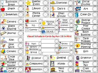 Fun 2B in First: Visual Schedule