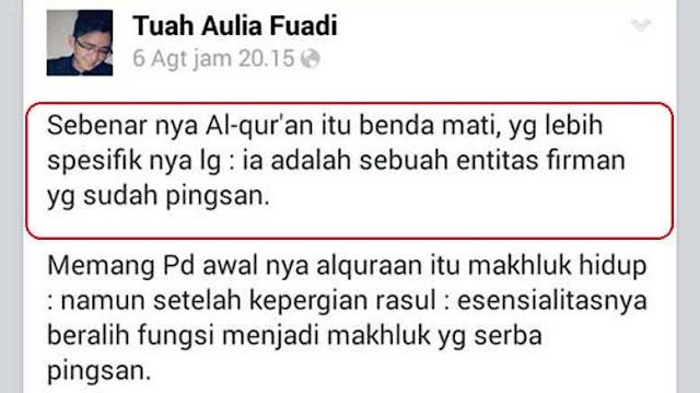 Astaghfirullah! Mahasiswa UIN Sumut Lecehkan Al-Qur'an