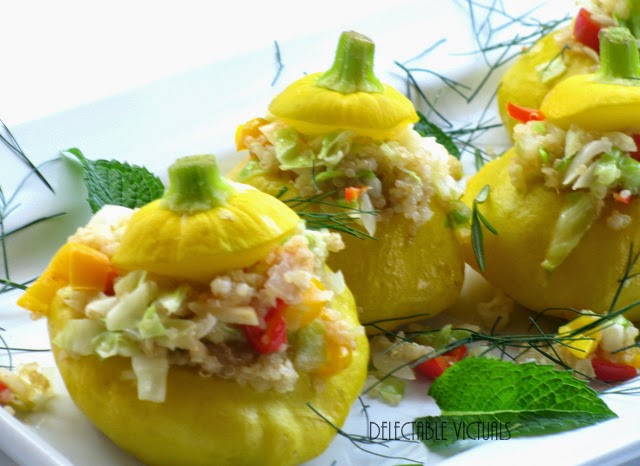 Quinoa-Stuffed Scallop Squash vegetarian pattypan