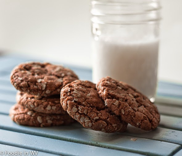 Nutella and Oat Cookies, recipe