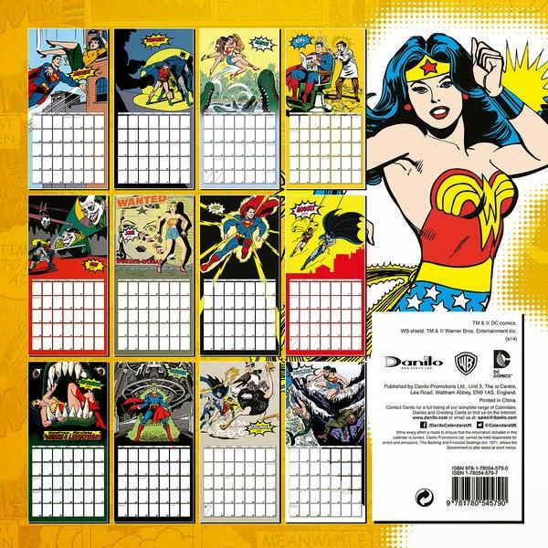 Calendario Superhéroes DC 2015