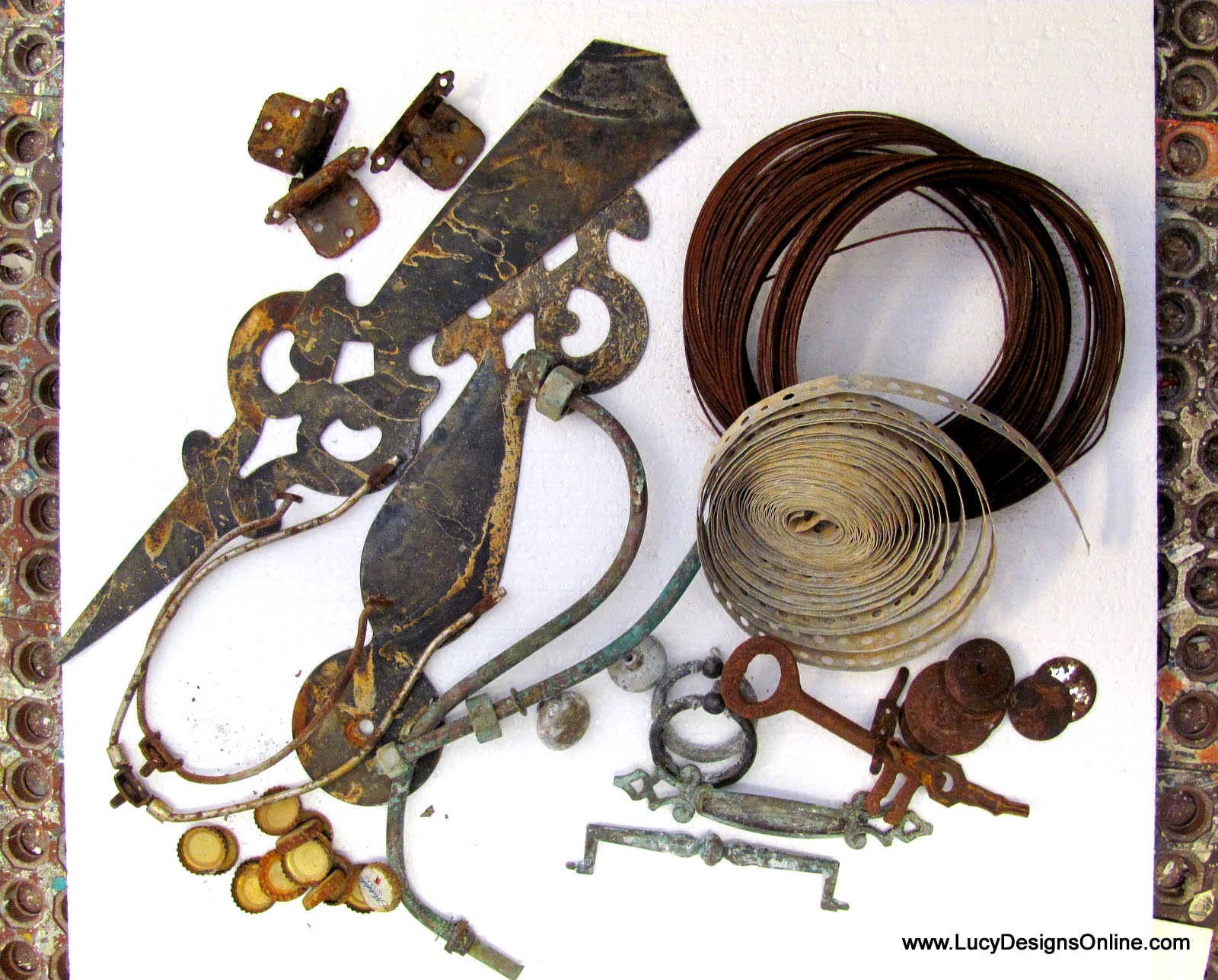 How I Give Metal And Wire Pieces An Aged Rusty Patina Using Vinegar