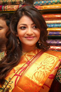 Actress Kajal Agarwal Pictures in Designer Saree at The Chennai Shopping Mall Launch  0040