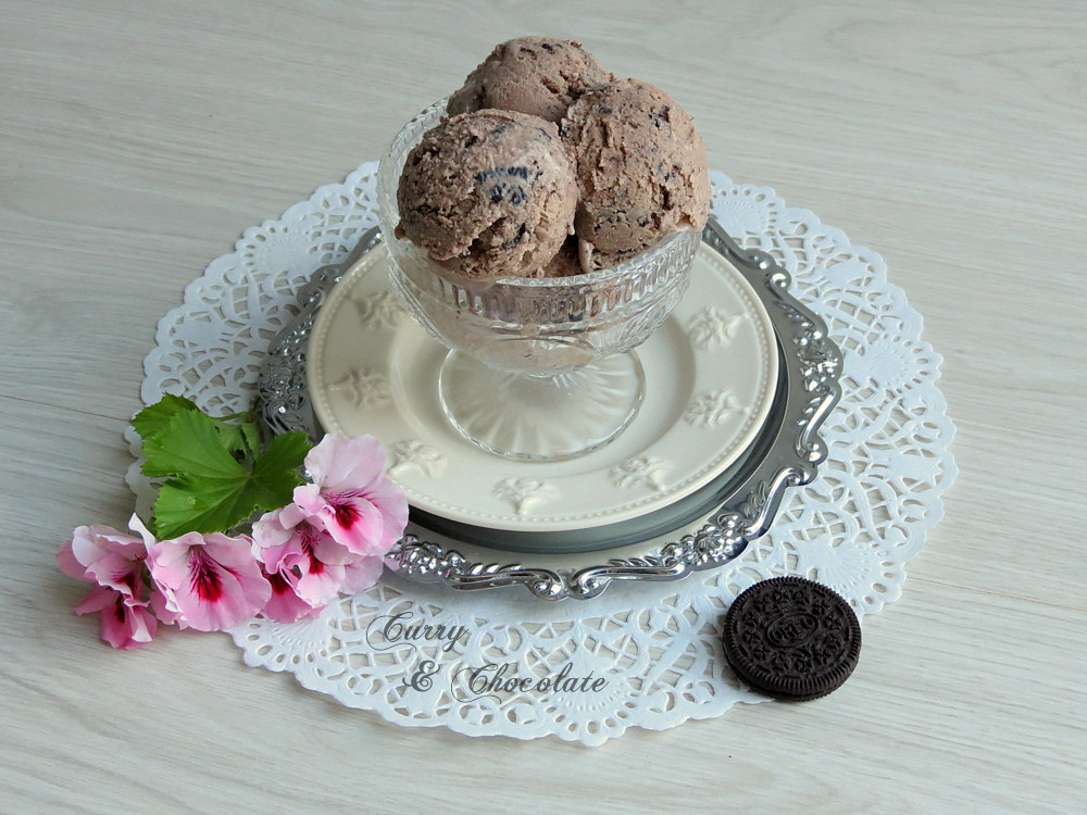 Helado casero de Nutella y trocitos de galleta Oreo – Homemade Oreo Nutella ice cream