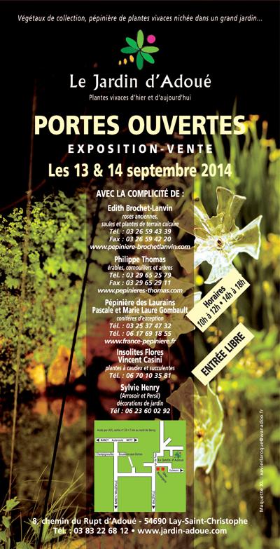 Portes ouvertes le 13et 14 septembre au Jardin d'Adoué