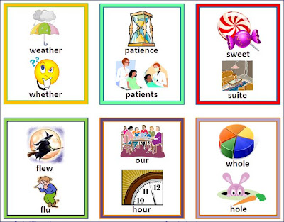 Nyla's Crafty Teaching: Homophones Flashcards Printable