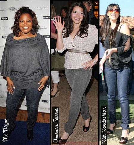 Skinny jeans curvy body