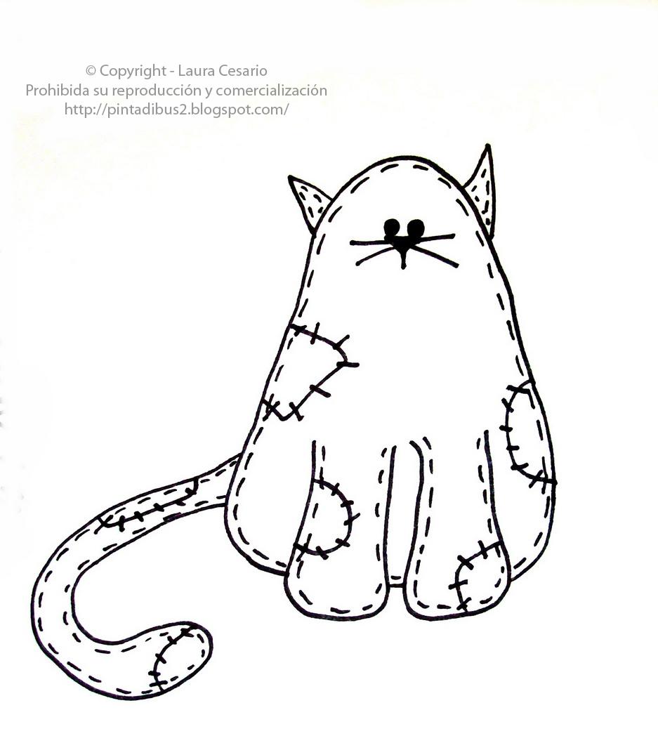 Dibujos para niños gratis! lámina de un gatito para colorear!!!!