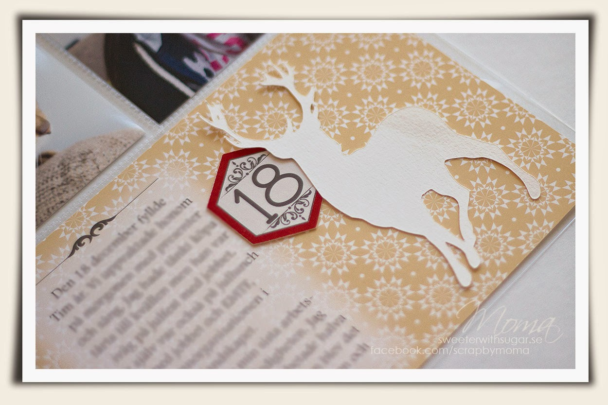Project Life, Becky Higgins, Dies, Die cut,Blue, December Daily, Gazelle