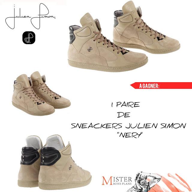 """1 paire de sneackers Julien Simon """"Nery"""""""