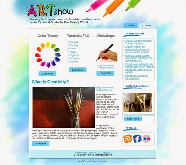Art Show - Free Joomla! Template