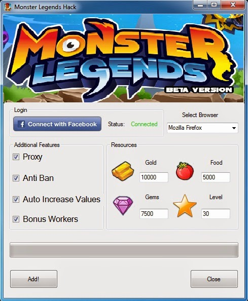 Monster Legends Hack and Cheats Tool