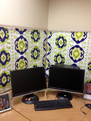 Cubicle Makeover: After www.CincinnatiThrift.com