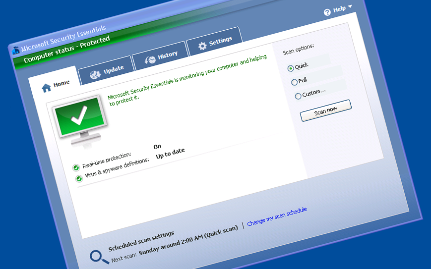 Free Download Microsoft Security Essentials 4.6.305 Vista