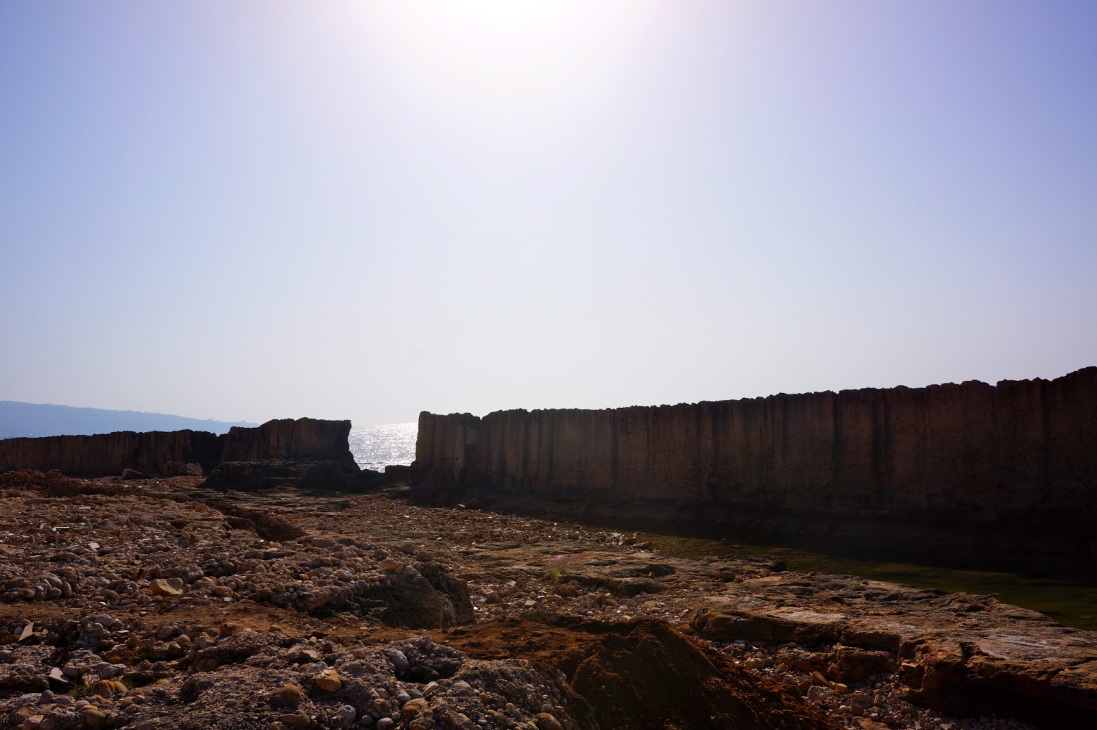 Picture of the Phoenician maritime wall in Batroun, Lebanon.