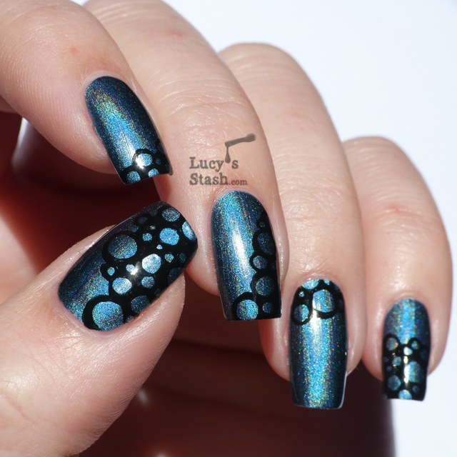Lucy's Stash - freehand nail art