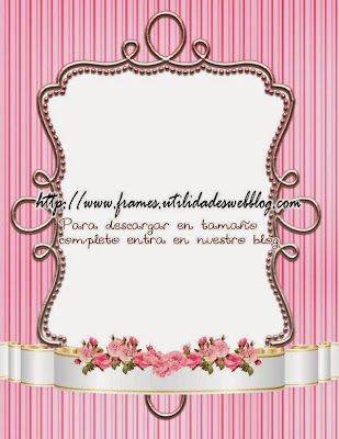 delicado marco color rosado para el dia de las madres