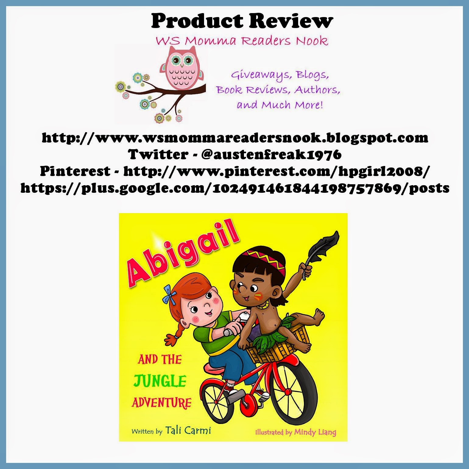http://www.amazon.com/Children-books-Adventure-Preschool-collection-ebook/dp/B00HNCTDJ2/ref=sr_1_1?s=digital-text&ie=UTF8&qid=1411270067&sr=1-1&keywords=abigail+and+the+jungle+adventure
