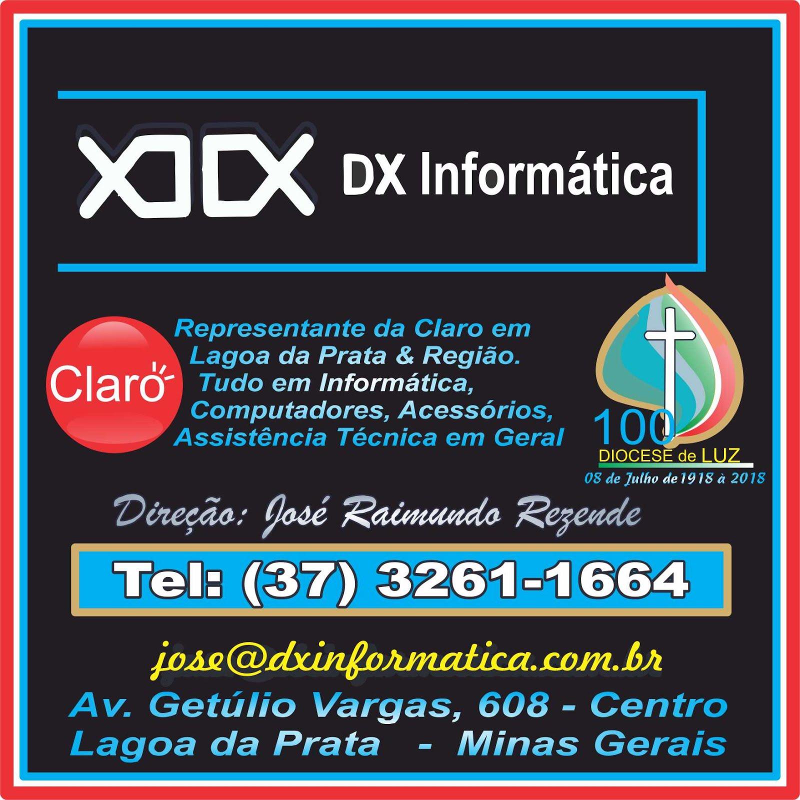 *** DX Informática - Tels: (37) 3261-1664 / 3261-1080***