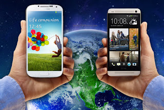 samsung+galaxy+s4+vs+htc+one Samsung Galaxy S4 VS HTC One Comparison