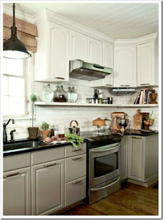 simple gray kitchen cabinets