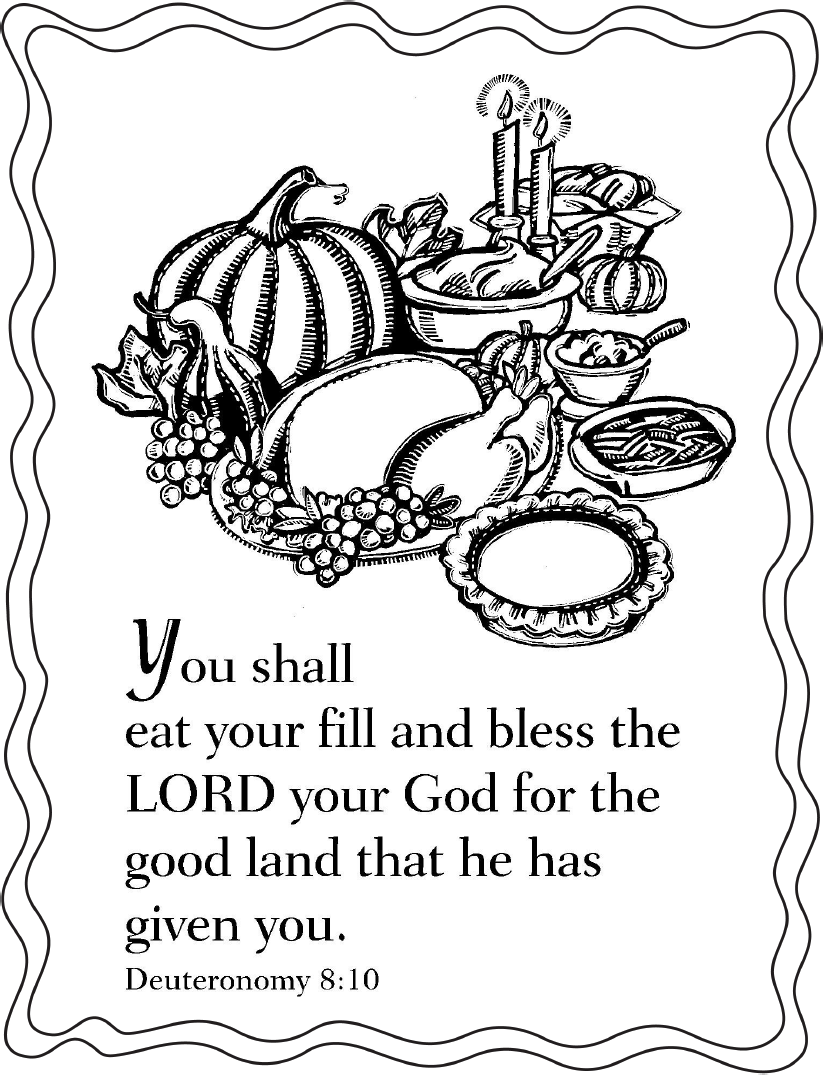 thanksgiving coloring pages religious creation - photo#4