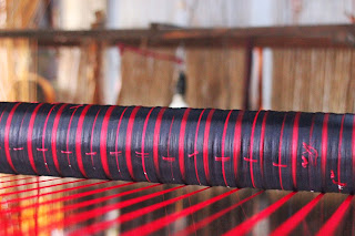 handloom photos from Paramakudi explaining warp weft grain selvage