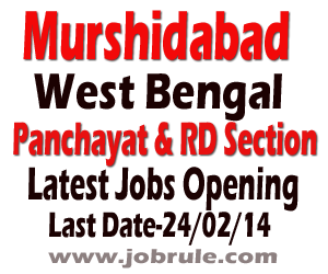 Latest Panchayat Jobs Opening in Murshidabad District Gram Panchayat and Panchayat Samiti Level, Berhampore February 2014