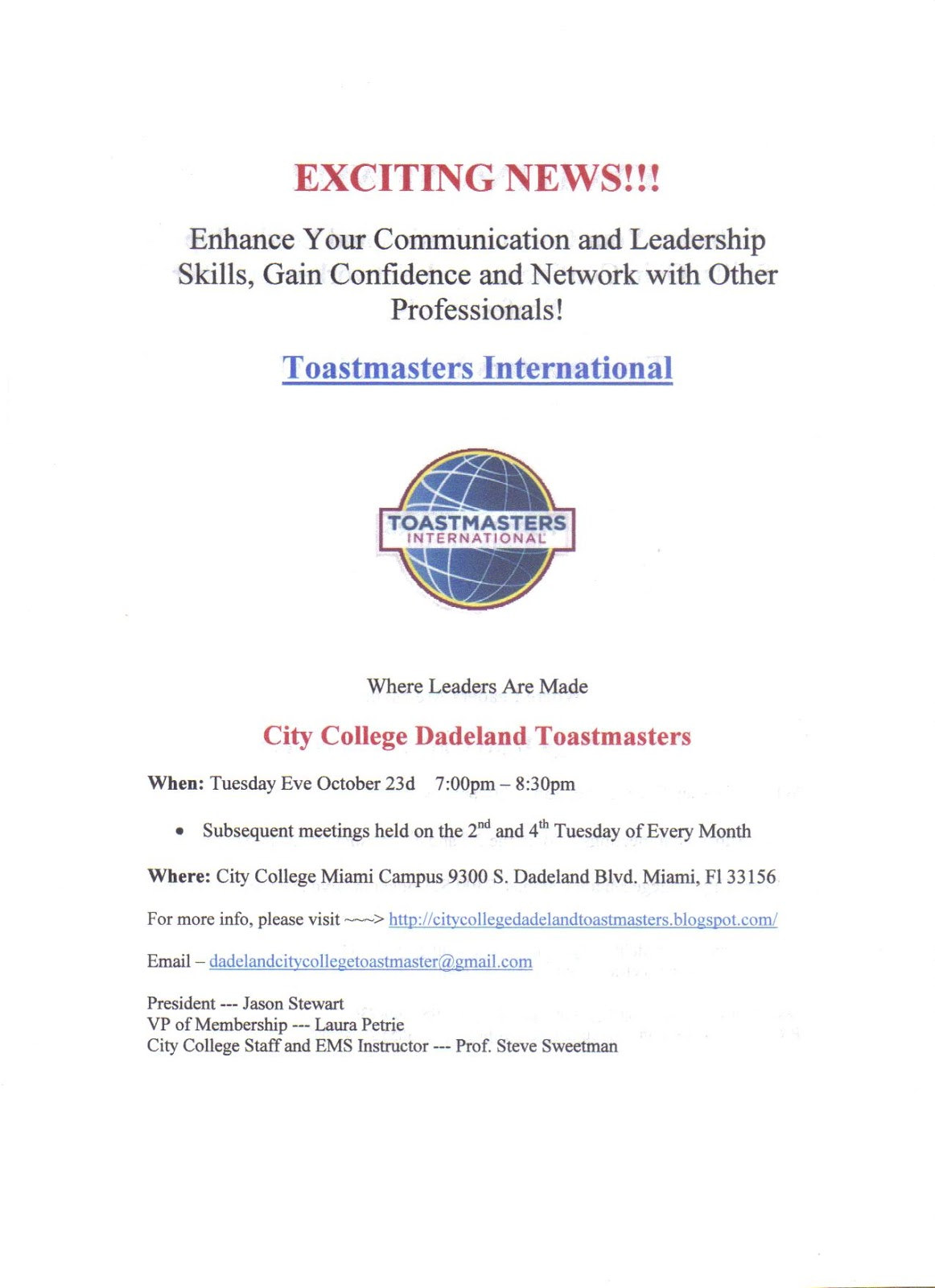city college dadeland toastmasters email this club dadelandcitycollegetoastmaster gmail com