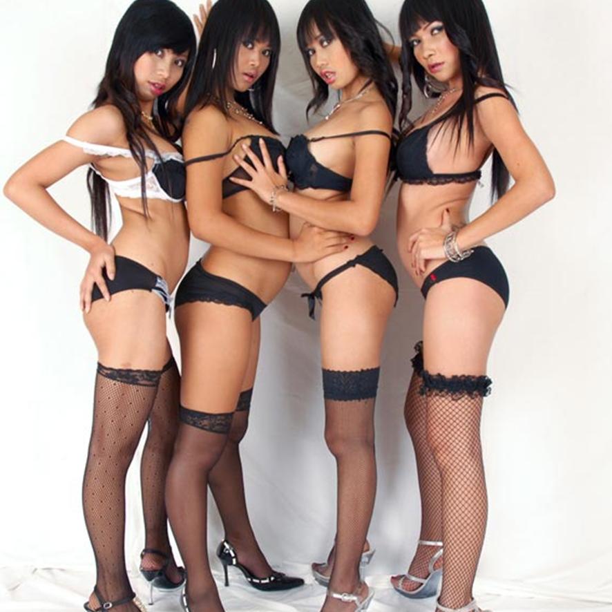 Thai girls in stockings