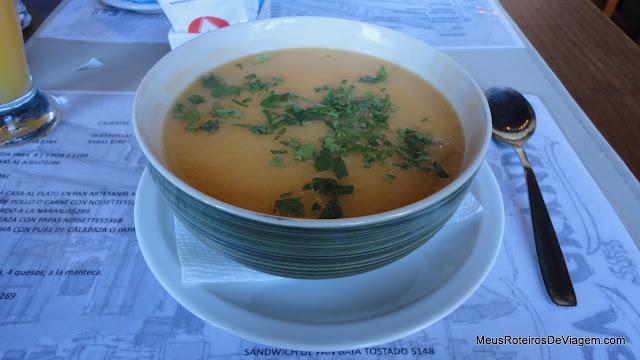 Sopa no Casagrande Restaurante - Colonia del Sacramento, Uruguai