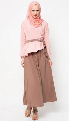 Aneka Model Baju Muslim Gamis Casual Untuk Lebaran
